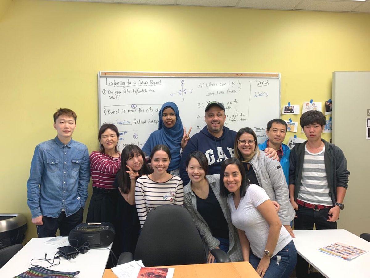 カナダ・トロントの語学学校の集合写真