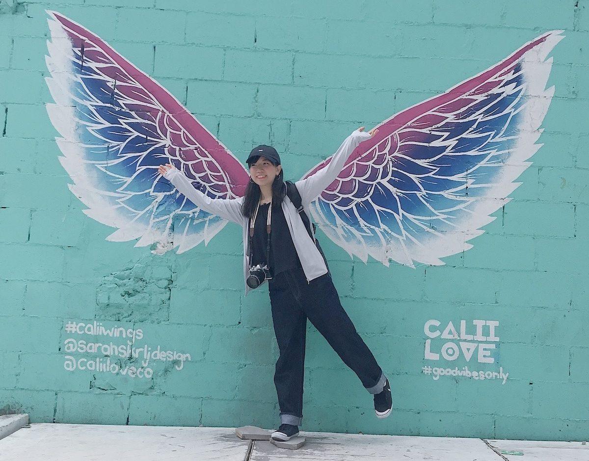 天使の羽のついた筆者