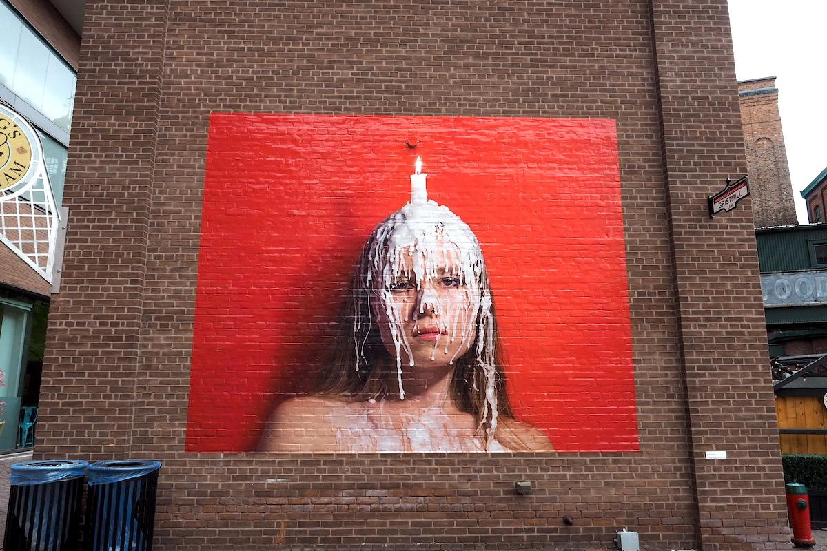トロントのディスティラリー地区のアート