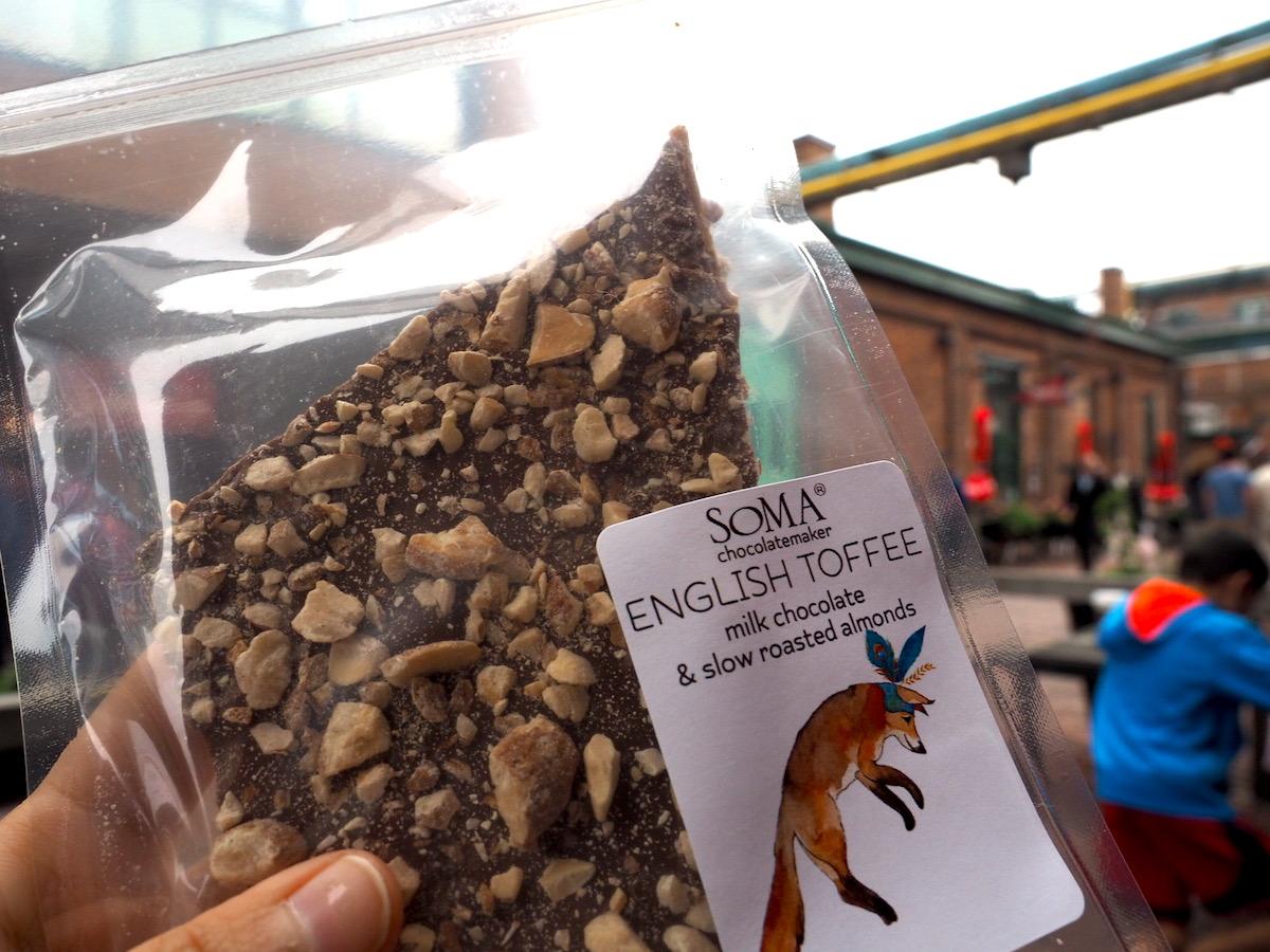 トロントのディスティラリー地区のSOMAチョコレート