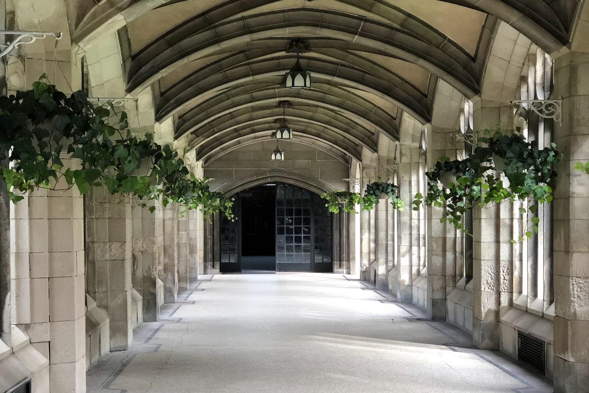 トロント大学の外廊下