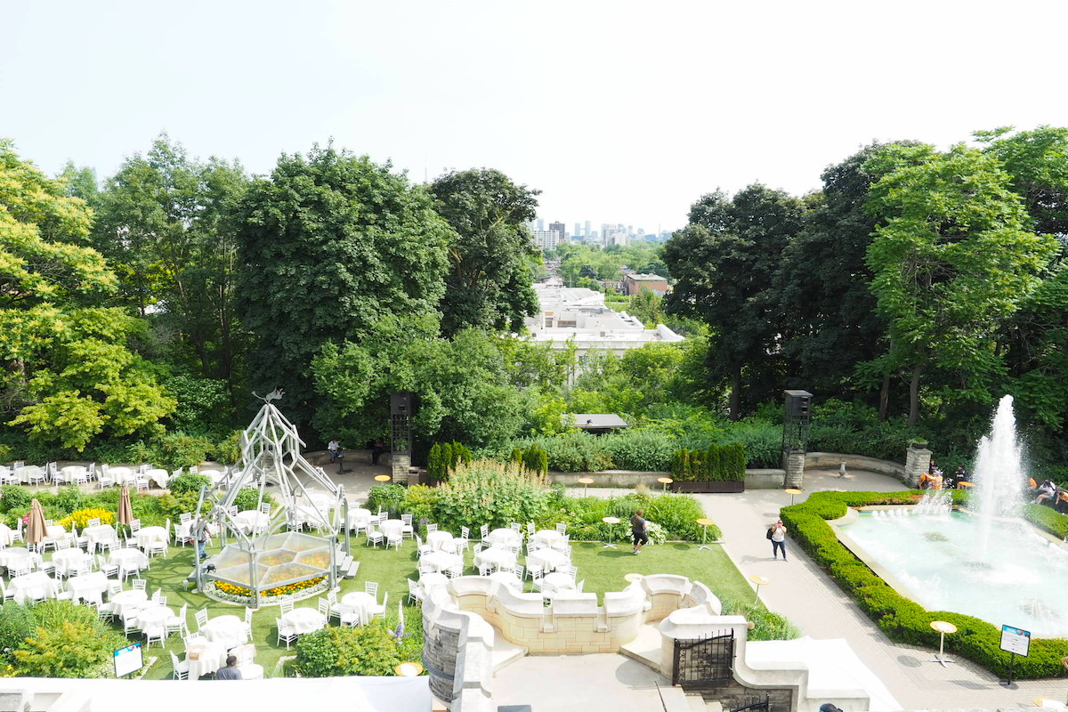 トロントのカサロマから見える景色