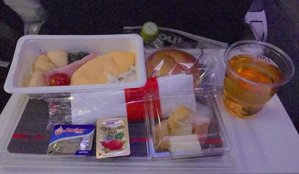 エアカナダの機内食